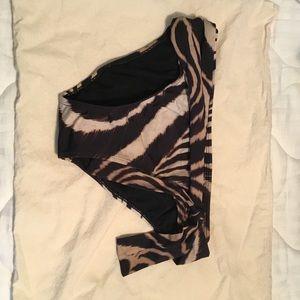 Tiger striped bikini bottoms